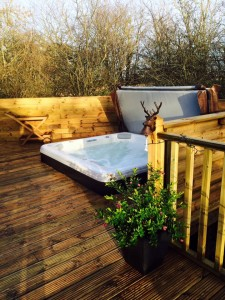 Northumbrian Holidays - Woody's Lodge - Hot tub