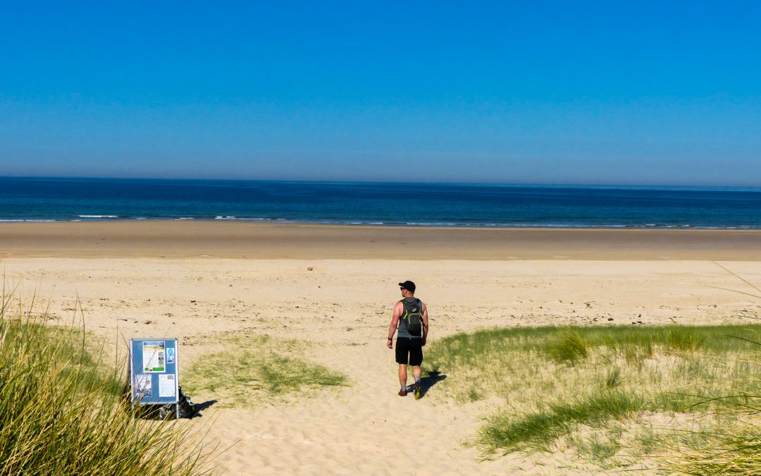 Short Walks: Ross Back Sands taking in stunning views of Bamburgh and Holy Island
