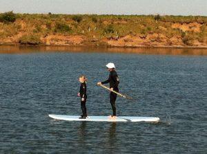 Paddle boarding at Northside Surf School